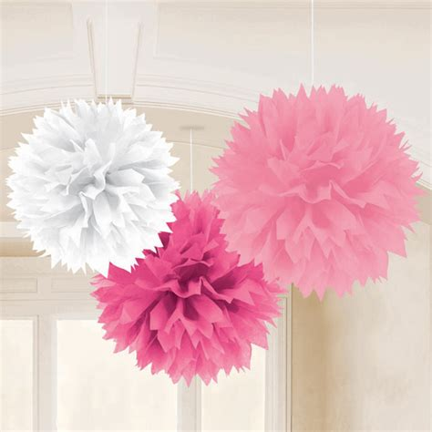 pink decorations tissue and paper decorations parties4less net