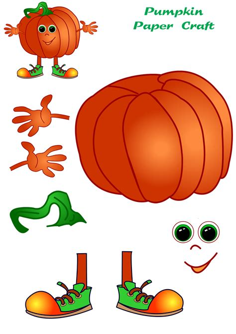 paper pumpkin craft pumpkin paper craft