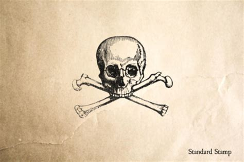 skull and crossbones rubber st corsican pirate rubber st standard st
