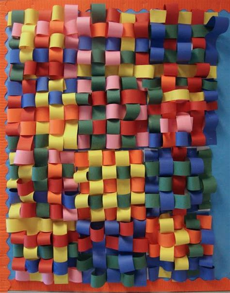 paper weaving craft paper scissors glue 3d weaving k i d c r a