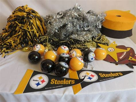 steelers decorations pittsburgh steelers tree decoration kit