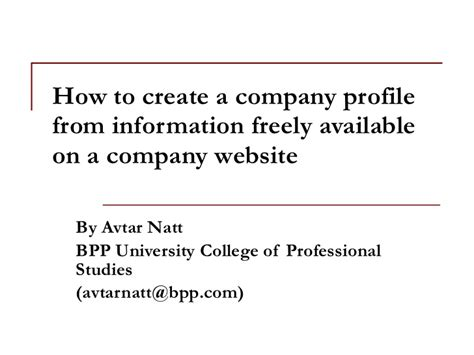 how to create company profile how to create a company profile from information freely