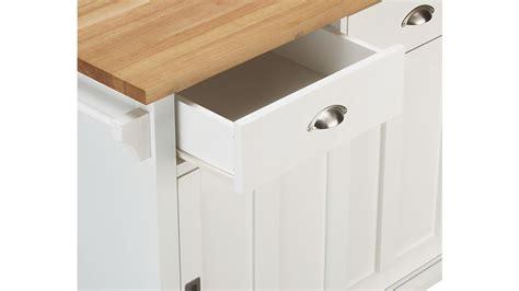 belmont white kitchen island belmont white kitchen island crate and barrel