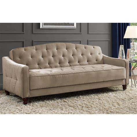 vintage sleeper sofa novogratz sofa vintage tufted sleeper ii home living room