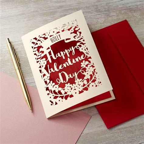 valentines card personalised papercut s card by pogofandango