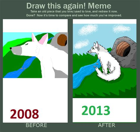paint nite meme ms paint draw this again now normal wolf by xx