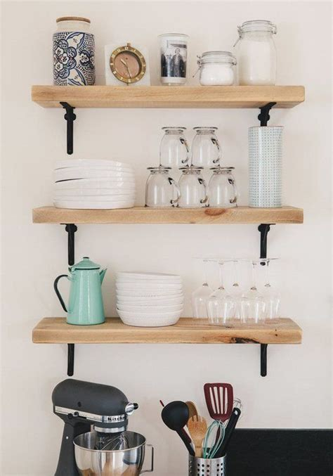 shelves design for kitchen zero cost ways to make your open kitchen shelves look