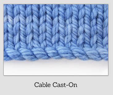 cable cast on knitting class cast ons knitfreedom