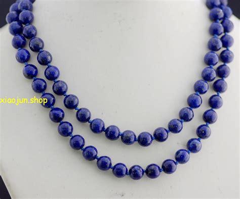 lapis lazuli bead necklace 10mm lapis lazuli necklace 36 aaa