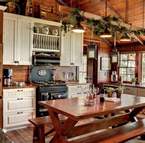 cabin kitchen designs antique reproduction stove mountain cabin