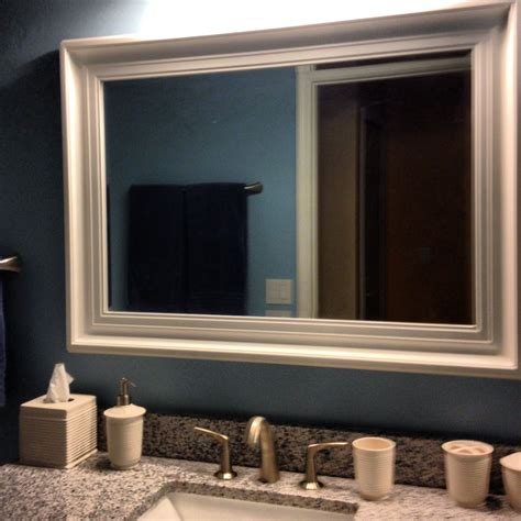 framed mirrors bathroom white framed bathroom mirrors
