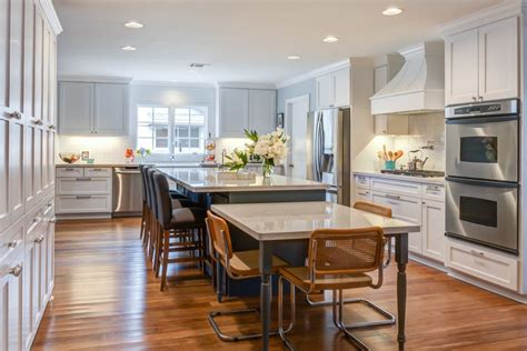 kitchen island with table attached table attached to island kitchen contemporary with