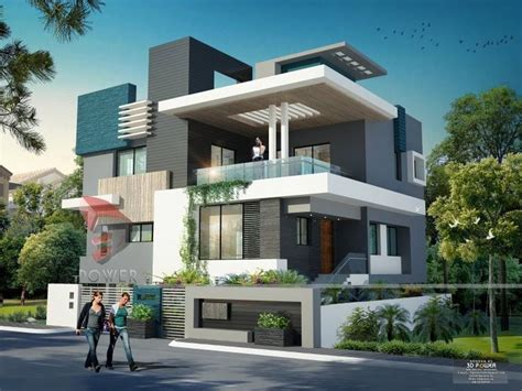 beautiful home designs inside outside in india modern home design render by 3dpower 3d power