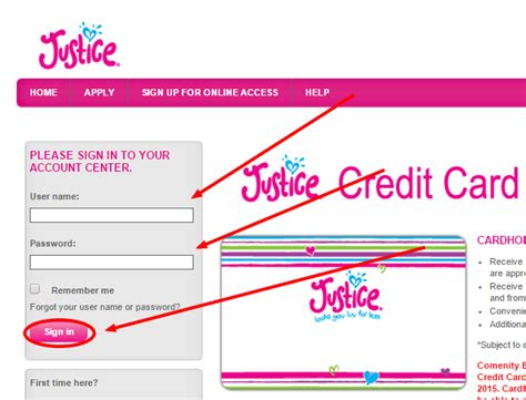 make payment to store card shop justice credit card login capitalone justice