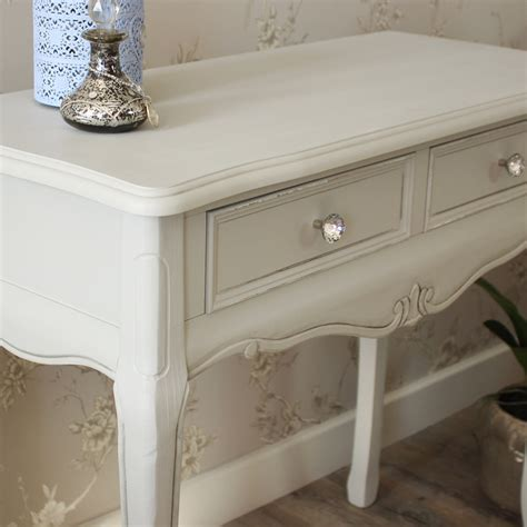 grey shabby chic bedroom furniture grey wooden ornate console dressing table shabby