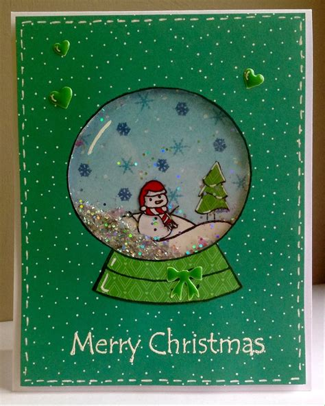 how to make a snow globe card snow globe shaker card