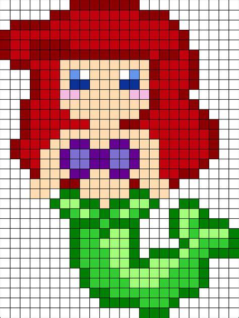 perler patterns printables ariel perler bead pattern bead sprites characters fuse