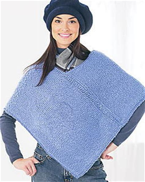 how to knit a poncho two knit poncho pattern favecrafts