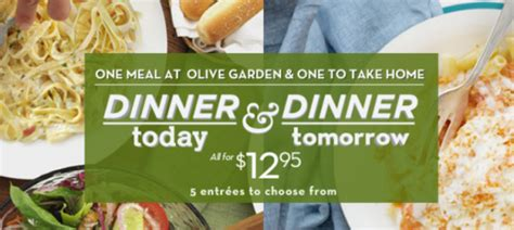 olive garden dinner tonight and tomorrow just 12 95 plus enter to win 25 olive garden gift