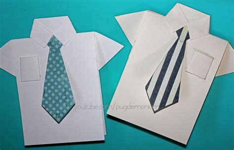 how to make a tie card tutorial s day card shirt tie