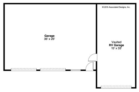 garage floor plan southwest house plans rv garage 20 169 associated designs