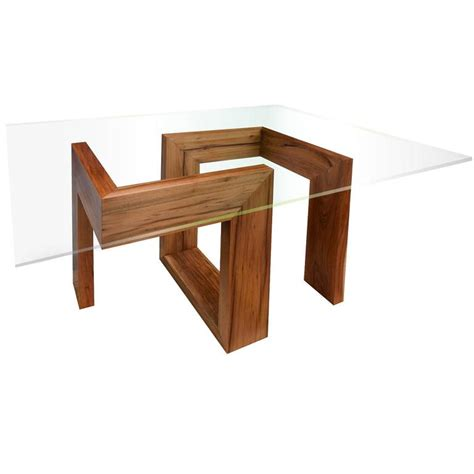 modern wood dining room tables modern 21st century solid timber table with glass top for