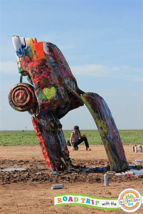 The Cadillac Ranch by Spray Painting Cars With At The Cadillac Ranch