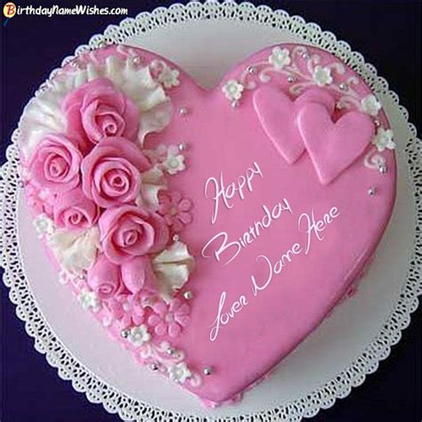 cakes for roses birthday cake for lover images with name