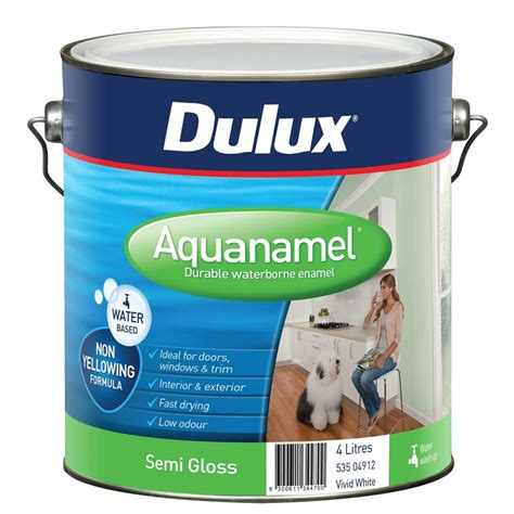 acrylic paint vs enamel dulux aquanamel 4l white semi gloss enamel paint