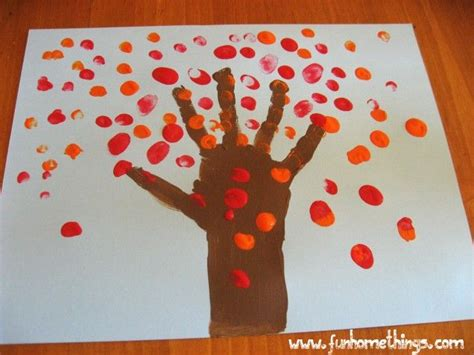 harvest crafts fall crafts for handprint fall tree paint colors