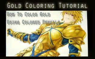 how to color gold coloring tutorial using color pencils