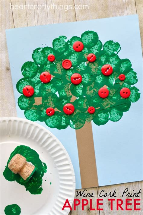 trees craft wine cork sted apple tree craft i crafty things