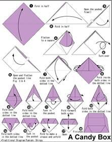 origami box steps box tutorial instrucciones para realizar una