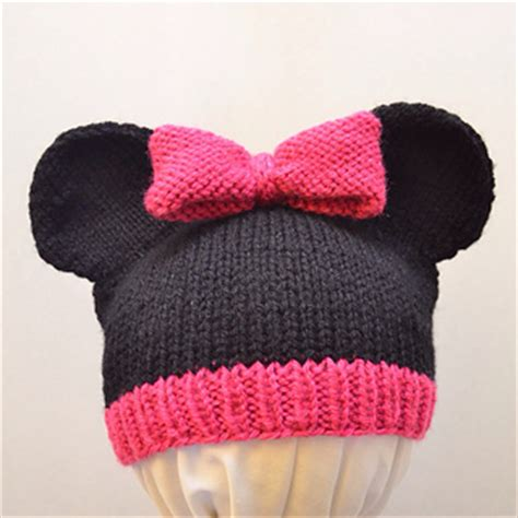 mickey mouse knit hat ravelry mickey and minnie mouse knit hat pattern by