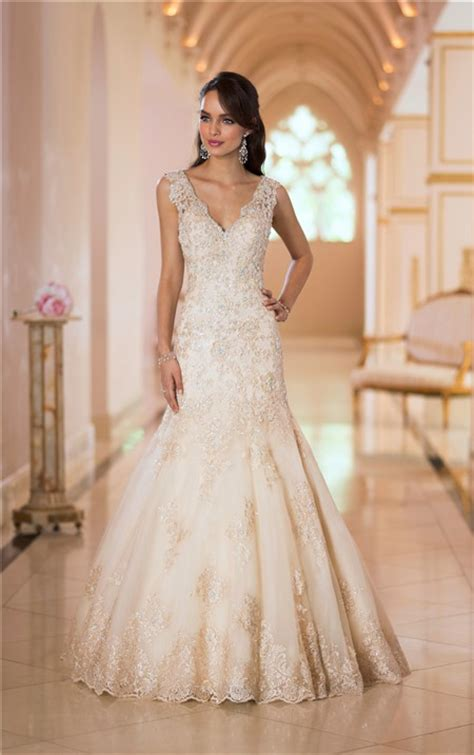 sparkly beaded wedding dresses stunning mermaid v neck low back gold lace beaded sparkly