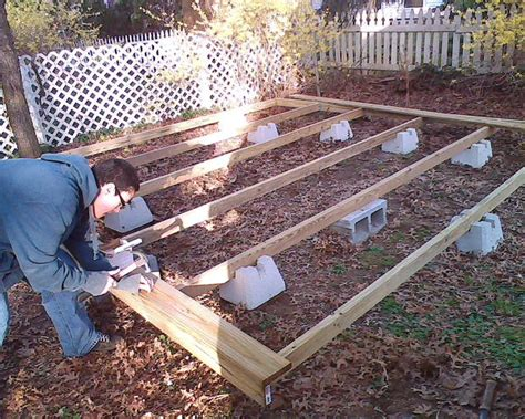 how do you build a patio how to build a floating deck