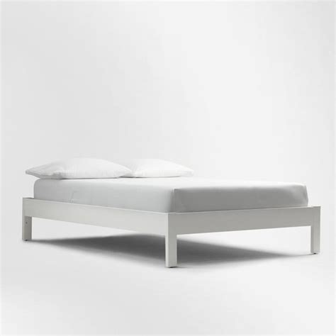 simple white bed frame simple bed frame white modern beds by west elm