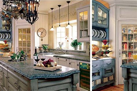 ideas for small country kitchens designs color blue small country kitchen blue colors home