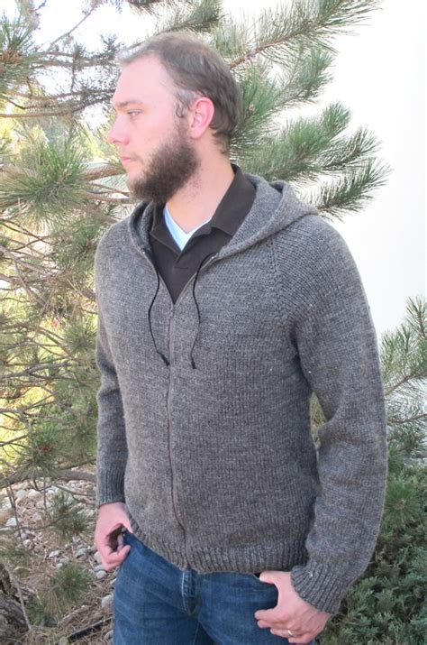 mens knit hoodie 1212 zipper hoodie for knitting and simple