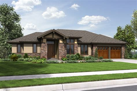 Craftsman Bungalow Floor Plans prairie style house plan 3 beds 3 5 baths 2694 sq ft