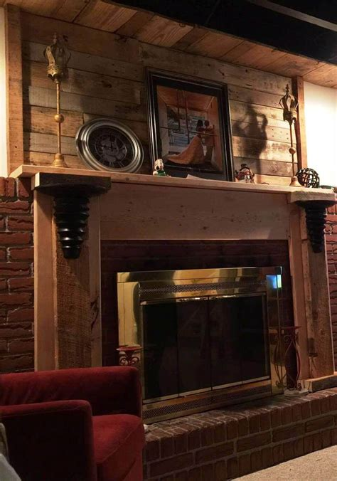 wall mantle pallet fireplace mantle wall and shelf