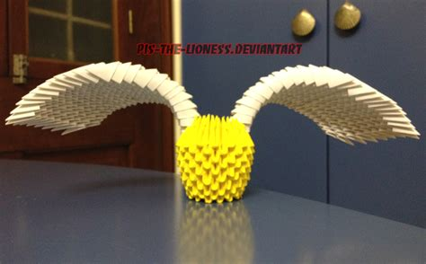 origami snitch 3d origami golden snitch by brownblurry on deviantart