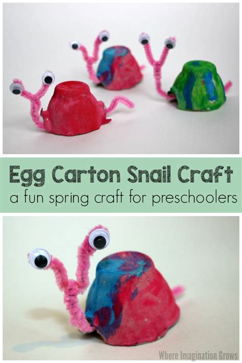 craft projects for toddlers egg snail craft for where imagination grows