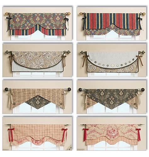 kitchen curtain sewing patterns butterick 5582 reversible window valance sewing pattern