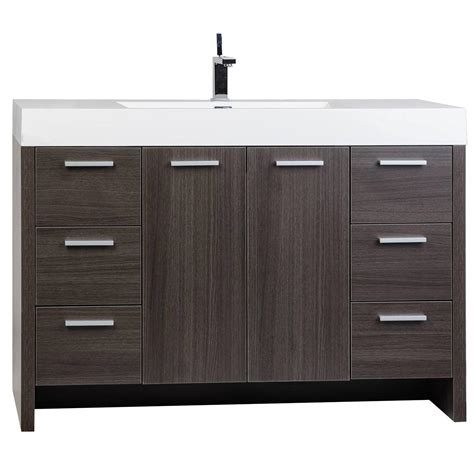 bathroom vanities tn buy 47 25 inch modern bathroom vanity grey oak finish tn