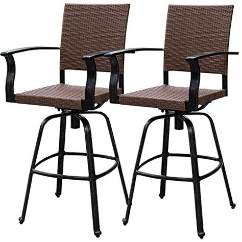 bar height patio set with swivel chairs bar height patio set with swivel chairs shop allen roth