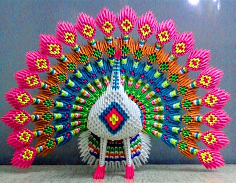 3d origami images peacock album mohammad nofal 3d origami