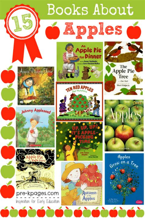 apple picture book apple theme books for preschoolers pre k pages