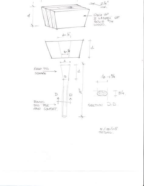 woodworking mallet plan craftmen wood mallet