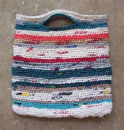 how to knit plastic bags recycle knitted with plastic bags knitting